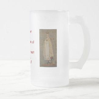 Corazón sagrado de Jesús, corazón inmaculado de Jarra De Cerveza Esmerilada