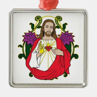 Corazón sagrado de Jesús Ornaments Para Arbol De Navidad