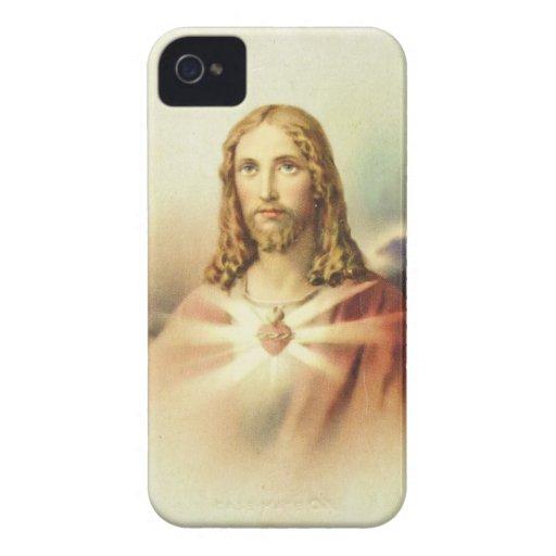 Corazón sagrado de Jesús iPhone 4 Cobertura