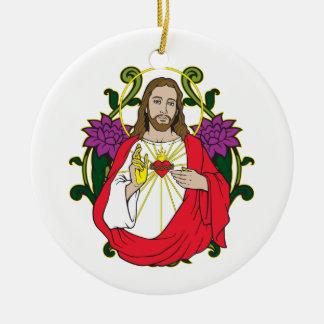 Corazón sagrado de Jesús Ornamente De Reyes