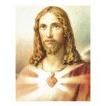 Corazón sagrado de Jesús Plantillas De Membrete