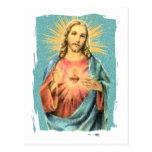 Corazón sagrado de Jesús Postal