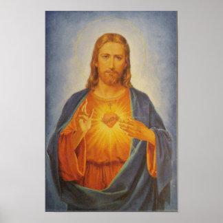 Corazón sagrado de Jesús Póster