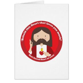 Corazón sagrado de Jesús Tarjeta