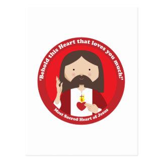 Corazón sagrado de Jesús Tarjeta Postal