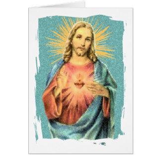 Corazón sagrado de Jesús Tarjetón