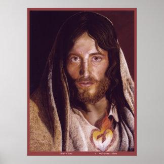 """Corazón sagrado de la imagen de Jesús """"corazón de Póster"""