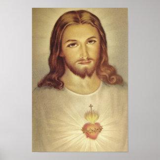Corazón sagrado de la obra clásica del poster de J Póster