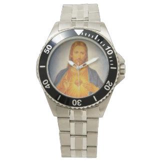 Corazón sagrado de la obra clásica del reloj de
