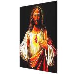 Corazón sagrado del Jesucristo Impresión En Lienzo Estirada