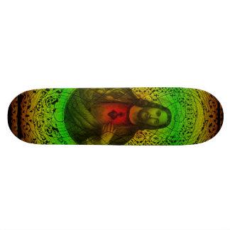 Corazón sagrado del monopatín de Jesús Rastafari Skateboard