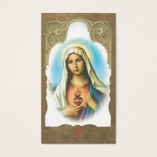 Corazón sagrado del monumento de la tarjeta del tarjetas de visita