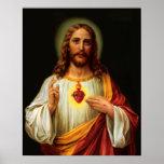 Corazón sagrado del poster de la impresión de