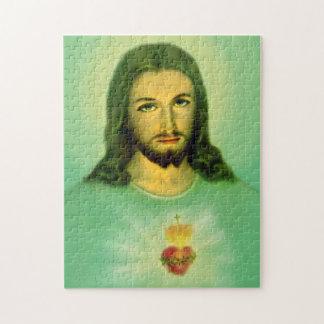 Corazón sagrado del rompecabezas de Jesús -