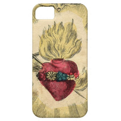 Corazón sagrado del vintage iPhone 5 carcasas