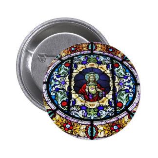 Corazón sagrado del vitral de Jesús Pin