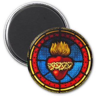 Corazón sagrado imán del vitral de J M