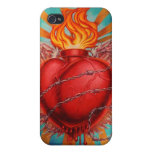 Corazón sagrado iPhone 4 carcasas