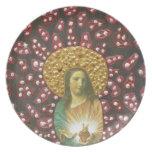 Corazón sagrado Jesús Plato
