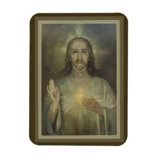 Corazón sagrado milagroso del imán de la foto de