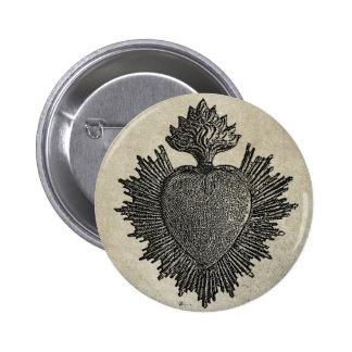 Corazón sagrado pins