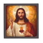 Corazón sagrado religioso hermoso de la imagen de  caja de regalo de calidad