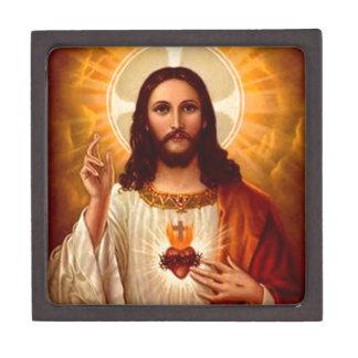 Corazón sagrado religioso hermoso de la imagen de  cajas de regalo de calidad