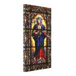 Corazón sagrado religioso hermoso del Virgen María Impresión En Tela