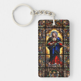 Corazón sagrado religioso hermoso del Virgen María Llaveros