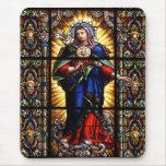 Corazón sagrado religioso hermoso del Virgen María Mousepad