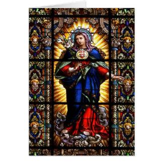 Corazón sagrado religioso hermoso del Virgen María Felicitación