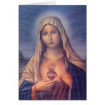Corazón sagrado religioso hermoso del Virgen María Tarjeton
