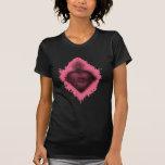 Corazón sagrado rosado camiseta