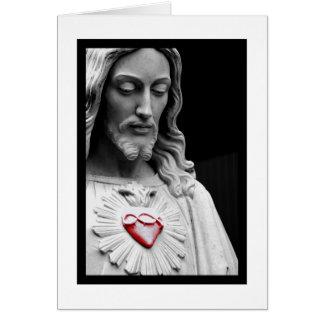 Corazón sagrado tarjeton