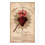 Corazón sagrado tarjeta postal