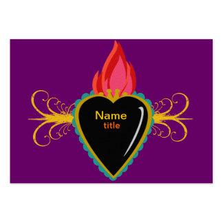 Corazón sagrado y tarjeta de visita de encargo de