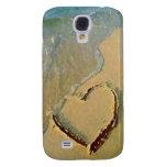 Corazón salado en caso del iPhone de la arena