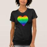 Corazón salvaje del arco iris de los años 80 camisetas