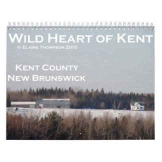 Corazón salvaje del calendario de Kent 2011