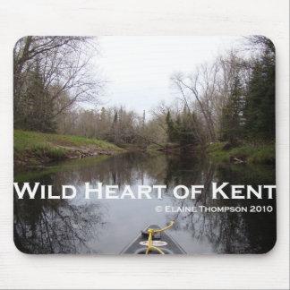 Corazón salvaje del cojín de ratón de Kent 1 Tapetes De Ratón