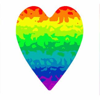 Corazón salvaje psychadelic del arco iris de los a adorno fotoescultura