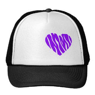 Corazón salvaje púrpura violeta gorras
