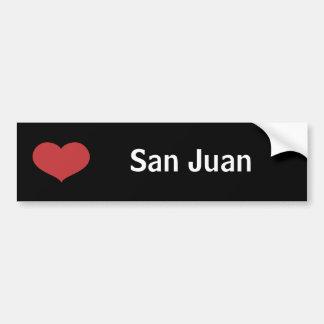 Corazón San Juan Pegatina De Parachoque