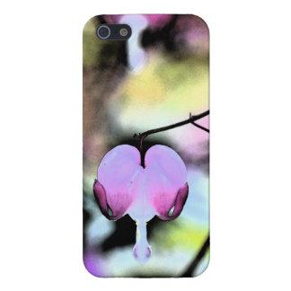 Corazón sangrante floral iPhone 5 carcasas