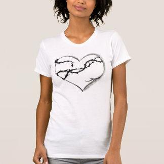 Corazón sangrante, oscuro camiseta