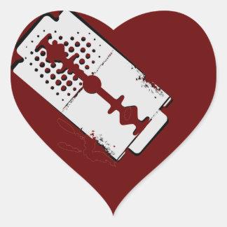 corazón sangrante - pegatina