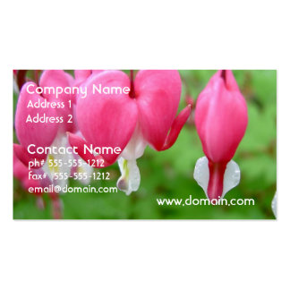 Corazón sangrante rosado tarjetas de visita