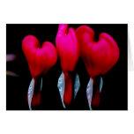 Corazón sangrante tarjeta
