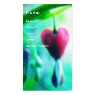 Corazón sangrante tarjeta de negocio