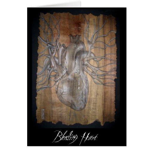 Corazón sangrante tarjetas